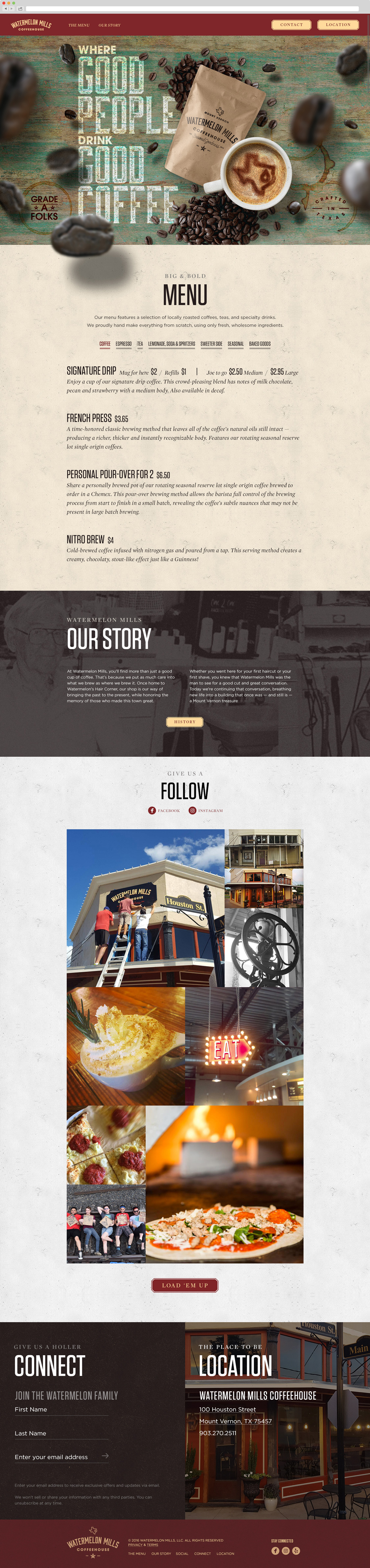 Watermelon Mills website landing page