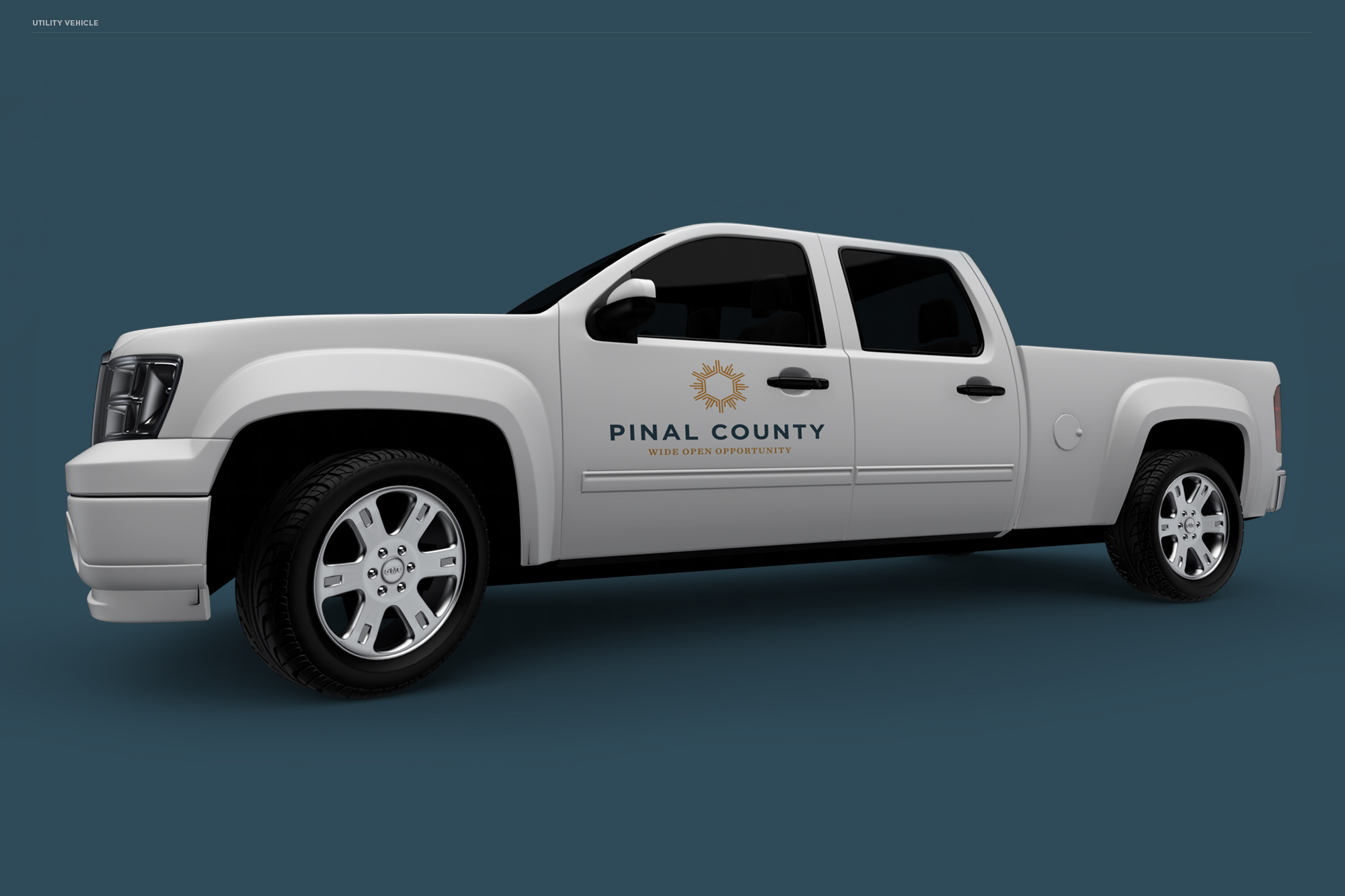 Pinal County utility truck